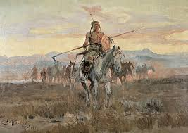 old west painting stolen horses by charles marion rus