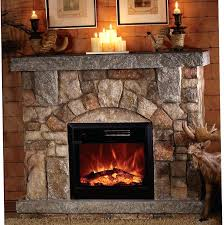 stone electric fireplace faux stone electric fireplace