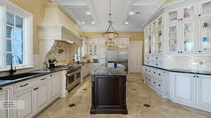traditional kitchen with contrasting colors