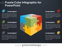 Infographics For Powerpoint Puzzle Cube Infographic For Powerpoint Presentationgo Com