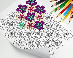 Small Picture Mini coloring book Etsy
