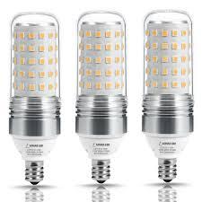 lohas led candelabra bulb 100w equivalent light bulbs e12 base 12w 2700k warm white 1100lm