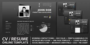 Resume Website Inspiration 60 Professional HTML CSS Resume Templates For Free Download And