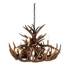 glen large antler chandelier
