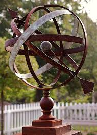 metal garden art armillary sphere