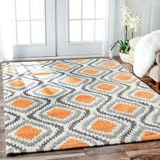 amazing blue and orange rug or bedroom brilliant awesome burnt orange rug diva target in