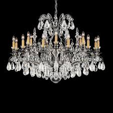 renaissance rock crystal 19 light 110v chandelier in antique silver with amethyst and black diamond