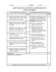 ap compare and contrast rubric ap compare and contrast rubric