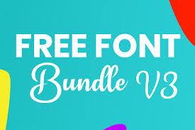 Browse a unique collection of the best svg fonts and thousands of free typefaces for design. Free Font Bundle V3 Bundle Creative Fabrica