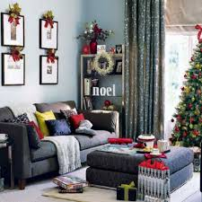 Living Room Christmas Decoration Home Decoration Small Living Room With Simple Christmas
