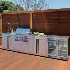 Simple Outdoor Kitchen Picture Lovely Gray Stainless Steel Cabinet ...