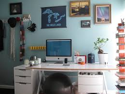 home office dark blue gallery wall. Blue Office Walls. Foxy Image Of Home Decoration Using Light Wall Paint Including Dark Gallery