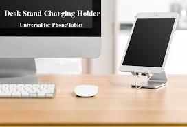 iphone desk stand. universal adjustable anti-slip aluminum desktop stand charging holder for iphone samsung ipad chuwi iphone desk