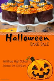 halloween sale flyer customizable design templates for halloween bake sale event