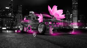 mazda mx5 fantasy flowers car
