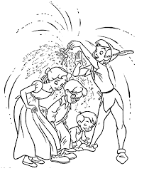 Small Picture Peter Pan Coloring Pages