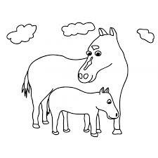 Disegno Di Cavalli Da Colorare Per Bambini Disegnidacolorareonlinecom