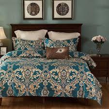 green black bohemia duvet cover set luxury egyptian cotton silky bedding set queen king size bed cover bedsheet set pillowcase white duvet set black and
