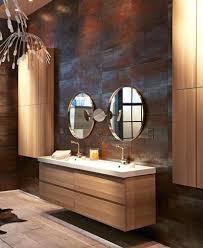 wood bathroom vanities koisaneurope com unbelievable pair of circle mirros with wooden ikea bathroom vanities near wall mount storage abovewood melbourne