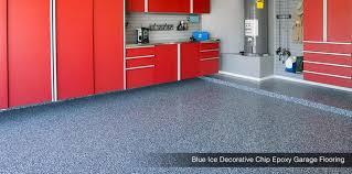 silver garage floors blue ice decorative chip garage flooring phoenix az