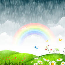 Image result for free spring pictures with a rainbow