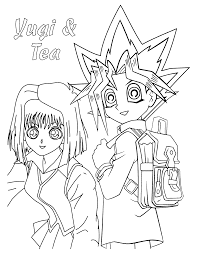 Small Picture Coloring Page Yugioh Pages Yu Gi Oh To Print Printable Zexal For