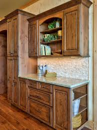 Rustic Beech Cabinets Rustic Stone Kitchen With Country Appeal Wood Trim Wood