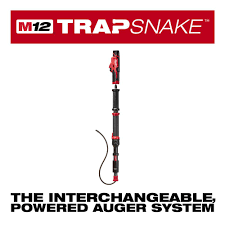 m12 trap snake 12 volt lithium ion cordless 4 ft urinal auger drain cleaning kit