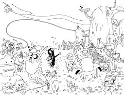Small Picture adventure time coloring pages4free printables coloring pages