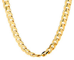 lifetime jewelry cuban link chain 6mm 24k gold over semi precious metals diamond