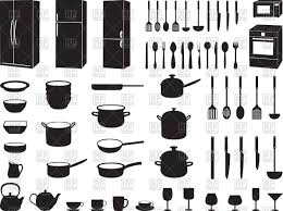 kitchen utensils silhouette vector free. Kitchen Tools - Silhouettes Of Kitchenware And Houseware Royalty Free Vector Clip Art Utensils Silhouette I