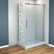 ... Dazzling Bathroom Designs With Small Shower Stall Ideas : Entrancing  Design Ideas Using Brown Laminate Floor ...