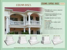 Decorative Interior Columns Custom Architectural Column Caps And Bases From Royal Foam