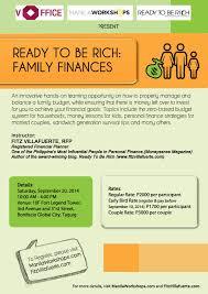 Family Finances Financial Workshop Manila Workshops