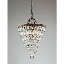 teardrop crystals chandelier parts fresh cone shape 4 light antique copper crystal chandelier