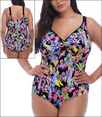 Elomi Electroflower Swimwear One Piece Molded Style Es7170 Blk