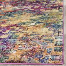 safavieh monaco collection mnc225d modern abstract watercolor pink and multi area rug 8 x 11