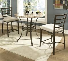 ellen 3pc counter round table 2 height chairs set