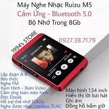 CÓ SẴN) Máy Nghe Nhạc MP3 Ruizu M5 Bluetooth 5.0 - 8GB Bộ Nhớ Trong - Tặng  Kèm Tai Nghe Hifi
