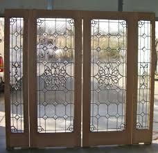 trendy modern design beveled glass home entry door