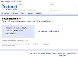 Upload My Resume Indeed