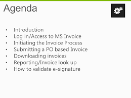 ms invoice ms invoice e invoice solution overview march ppt download