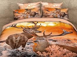 bedding set red rose with brown leopard animal printed 4pcs bedding set 3d bedsheet bed linen