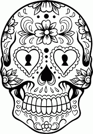Small Picture Sugar Skull Coloring Pages Printable Coloring Pages Skull Coloring