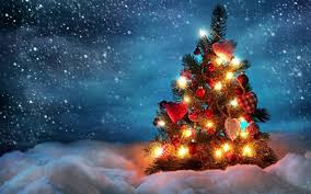 christmas tree backgrounds for desktop. Exellent Desktop Christmas Tree Lights Snow Sky HD Wallpaper Desktop Background In Tree Backgrounds For