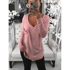 <b>Plus Size</b> Fashion V Neck Loose Long Sleeve <b>Summer T</b>-Shirt ...