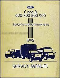 ford truck cab foldout wiring diagram original f f 1992 ford f and b 600 900 medium heavy truck repair shop manual original 129 00