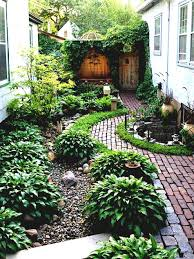 simple landscaping ideas. Simple Landscaping Ideas Around House Garden And Patio Narrow Side Yard Design With No Grass Trees Herb Plants Beside Brick Walkway Small Half Round Ponds I