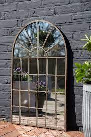 windowpane arch indoor outdoor mirror