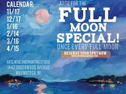 full moon special at arte wine and painting studio